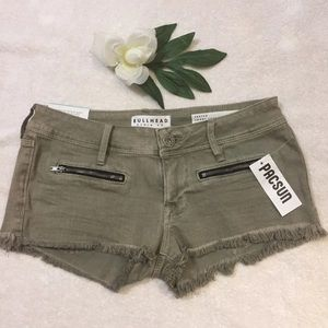 NWT BULLHEAD Size 1 Gray Zipper Shorts